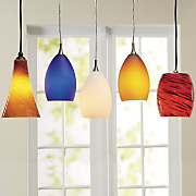 art glass pendant lights by design house