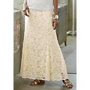 amira lace maxi skirt