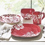 16-Piece Hand-Painted Tiffin Dinnerware Set
