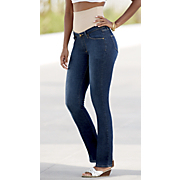 Tummy Trimmer Straight-Leg Jean