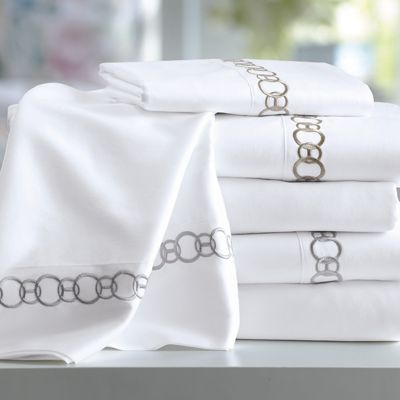 300-Thread Count Chain Embroidered Sheets