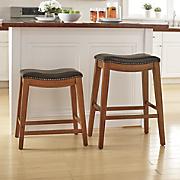 24  and 28  nailhead stools