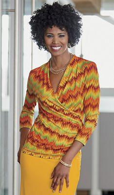 Rossi Surplice Top by Ashro Everywhere Knits