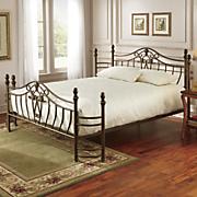 brushed bronze bed