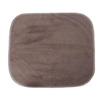 "Brown Velour Chair Pad - 20"" X 18"""