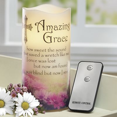 LED Amazing Grace Musical Candle