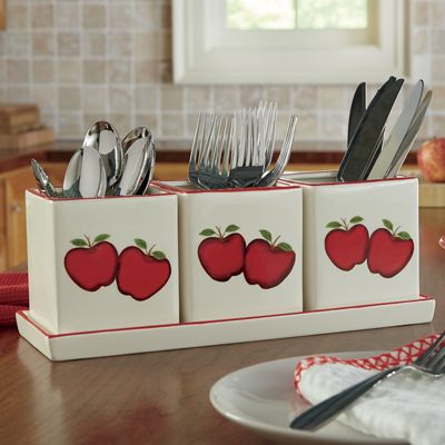 Apple Flatware Caddy