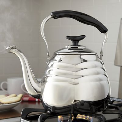 3-Qt. Stainless Steel Portobello Tea Kettle by Ginny's