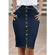 So Chic Denim Skirt