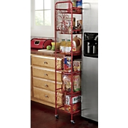 scroll 6 tier rolling or standing shelves