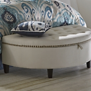 Half Moon Storage Bench