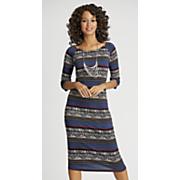 isla blue column dress