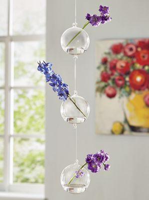 Glass Triple Ball Chain Planter