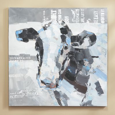 Abstract Cow Canvas