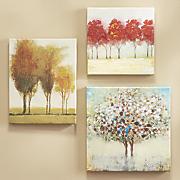 Set of 3 Miniature Tree Gallery Art