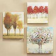 Set of 3 Miniature Tree Gallery Art