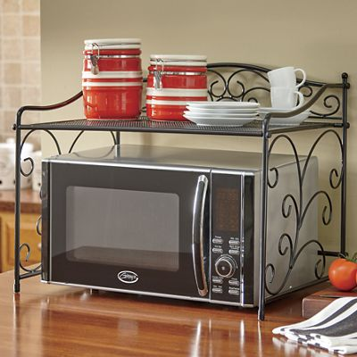 Scroll Microwave Shelf