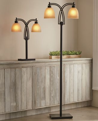 Two-Bulb Table and Floor Lamp