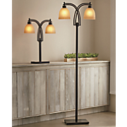 Two Bulb Table And Floor Lamp