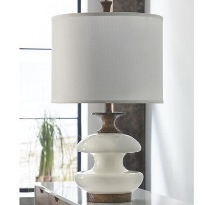 White Wood Lamp