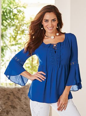 Blue Angel Crochet Trim Babydoll