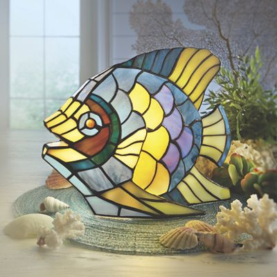 Azzuri Stained Glass Lamp