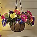 Faux Daisy Lit Floral Basket