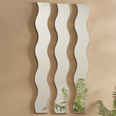 3-Piece Wave Mirror Set