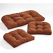 Pattern Perfect 3-Piece Wicker Cushion Set