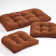 3-Piece Wicker Cushion Set