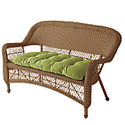 Pattern Perfect Wicker Settee Cushion