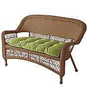 Pattern Perfect Wicker Settee Cushion