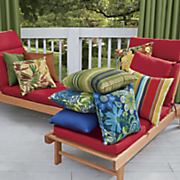 Outdoor Cushions in Bright Colors and Patterns