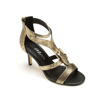 Buckle-Front T-Strap by Midnight Velvet