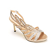 Side Leaf Sparkle Sandal by Midnight Velvet