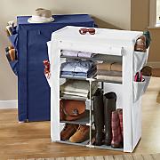 wardrobe organizer with side shoe pockets