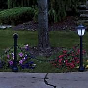 solar lantern fence post set