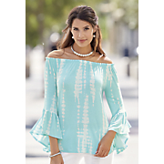 romantic flutter sleeve top