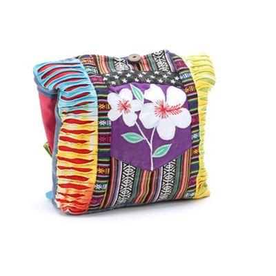 Crossbody Mixed Fabric Bag