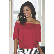 cerise off the shoulder top