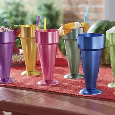 6-Piece Aluminum Sundae Cup Set