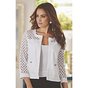 lace cutwork jacket 69