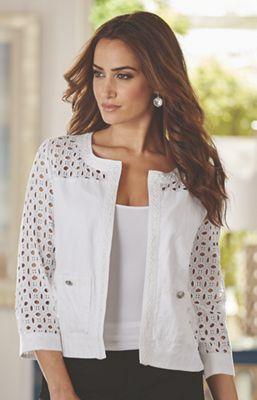 Lace Cutwork Jacket