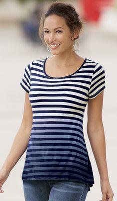 Dip-Dye Stripe Top