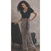 zariah block print jumpsuit