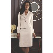 Pleat Trim Skirt Suit