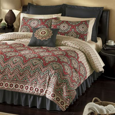 Modernist Comforter Set, Euro Shams, Tab Top Panel Pair and Accent Pillow
