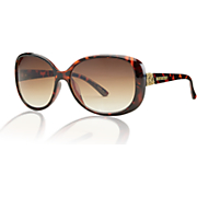 Tortoise with Scroll-Detail Sunglasses by Steve Madden