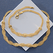 10k gold braid necklace
