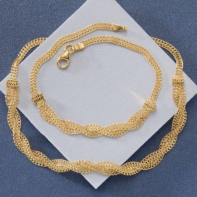 10K Gold Braid Necklace